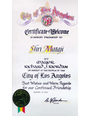 A Letter of the Mayor of Los Angeles
